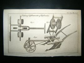 Agriculture: 1773 Various Farming Ploughs.